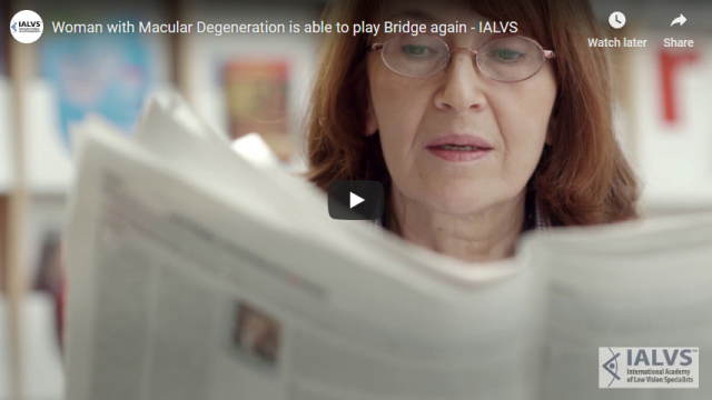 Screenshot 2019 03 30 Woman with Macular Degeneration is able to play Bridge again IALVS YouTube
